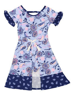 Girls 4-6x Floral Maxi Romper - 3614061950002