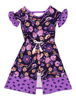 Girls 4-6x Printed Maxi Romper - 3614061950003