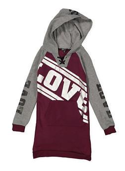 Girls 7-16 Graphic Sweatshirt Dress - 3615038340048