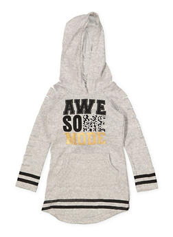 Girls 7-16 Awesome Mode Sweatshirt Dress - 3615038340052
