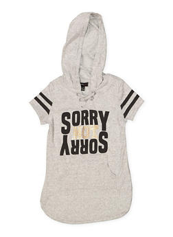 Girls 7-16 Sorry Not Sorry Sweatshirt Dress - 3615038340072