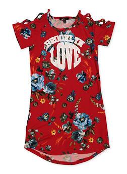 Girls 7-16 Brooklyn Love Floral Dress - 3615038340104