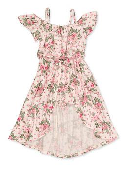 Girls 4-16 Floral Polka Dot Maxi Romper - 3615038340116