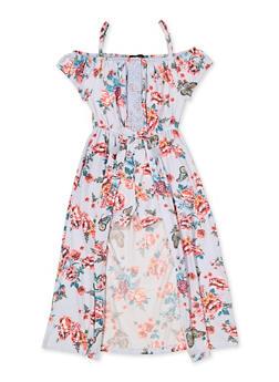 Girls 7-16 Floral Soft Knit Maxi Romper - 3615038340117