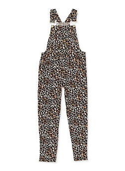 Girls 7-16 Leopard Overalls - 3615038340131