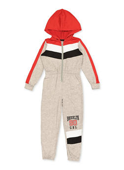 Girls 7-16 Brooklyn 90 Grl Color Block Jumpsuit - 3615038340132