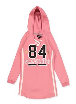 Girls 7-16 Flawless Lace Up Sweatshirt Dress - 3615038340140