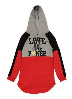 Girls 7-16 Love Is My Superpower Sweatshirt Dress - 3615038340146