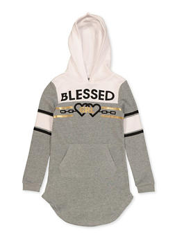 Girls 7-16 Blessed Grl Sweatshirt Dress - 3615038340148
