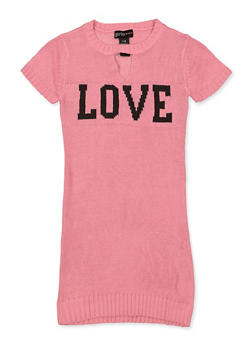 Girls 7-16 Love Keyhole Sweater Dress - 3615038340151