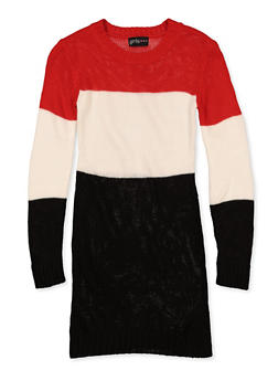 Girls 7-16 Color Block Sweater Dress - 3615038340152