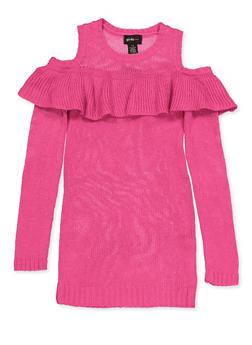 Girls 7-16 Cold Shoulder Sweater Dress - 3615038340154