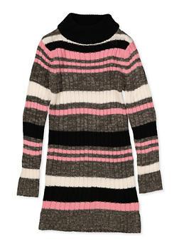 Girls 7-16 Striped Mock Neck Sweater Dress - 3615038340155