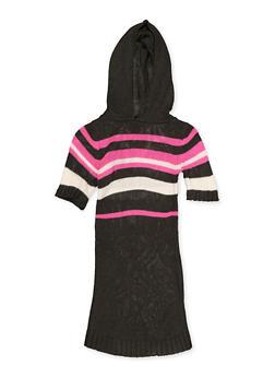 Girls 7-16 Hooded Striped Sweater Dress - 3615038340171