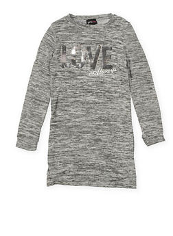 Girls 7-16 Reversible Sequin Graphic T Shirt Dress - 3615051060031
