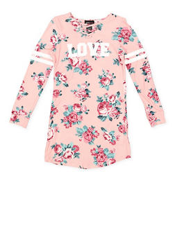 Girls 7-16 Graphic Floral Dress - 3615051060036