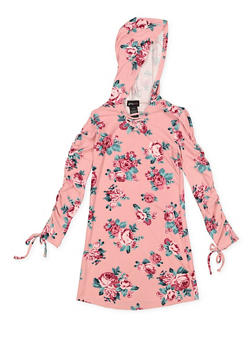 Girls 7-16 Floral Hooded Dress - 3615051060042