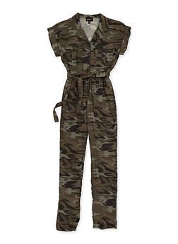 Girls 7-16 Belted Jumpsuit - 3615051060063