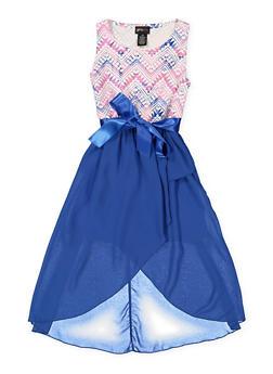 Girls 7-16 Printed High Low Dress - 3615051060083