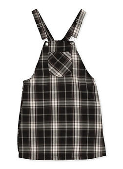 Girls 7-16 Plaid Overall Dress - 3615051060120