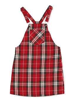 Girls 7-16 Plaid Overall Dress - 3615051060120