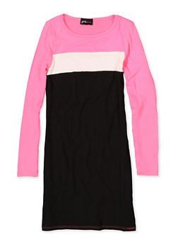 Girls 7-16 Color Block Dress - 3615051060126