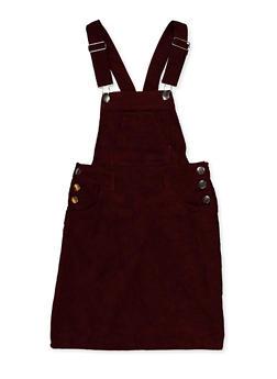 Girls 7-16 Corduroy Overall Dress - 3615051060140