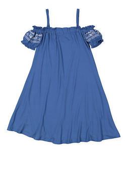 Girls 7-16 Off the Shoulder Dress - 3615060580010