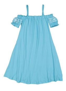 Girls 7-16 Embroidered Off the Shoulder Dress - 3615060580011