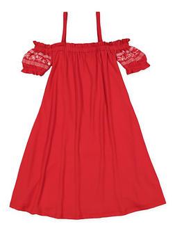 Girls 7-16 Off the Shoulder Dress - 3615060580012