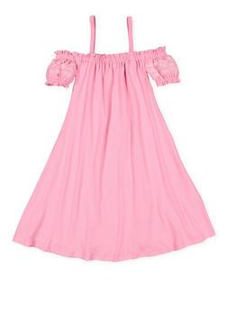 Girls 7-16 Embroidered Off the Shoulder Dress - 3615060580013
