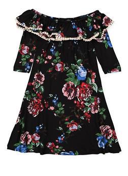 Girls 7-16 Crochet Trim Floral Dress - 3615060580022