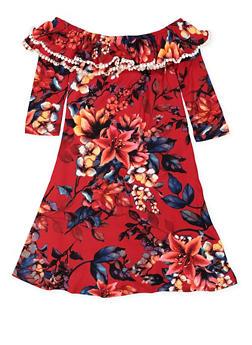 Girls 7-16 Crochet Trim Floral Dress - 3615060580023