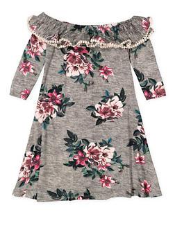 Girls 7-16 Floral Off the Shoulder Dress - 3615060580024