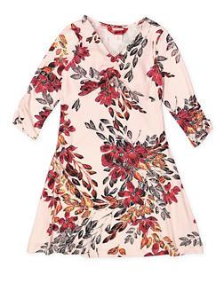 Girls 7-16 Floral Shift Dress - 3615060580026