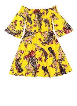 Girls 7-16 Floral Off the Shoulder Shift Dress - 3615060580032