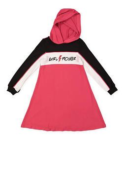 Girls 7-16 Graphic Color Block Dress - 3615060580041