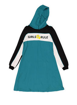 Girls 7-16 Graphic Hooded Dress - 3615060580042