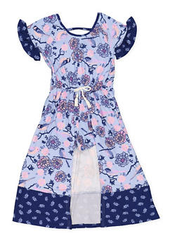 Girls 7-16 Printed Maxi Romper - 3615061950005