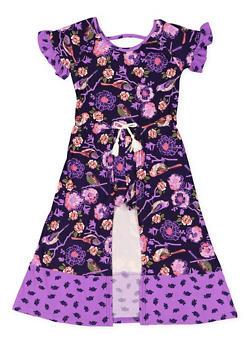 Girls 7-16 Floral Maxi Romper - 3615061950006