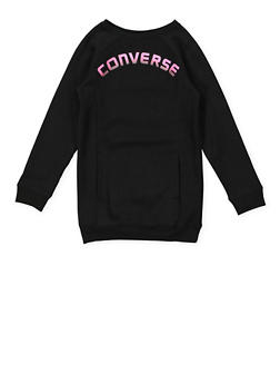 Girls 7-16 Converse Graphic Sweatshirt Dress - 3615070340001