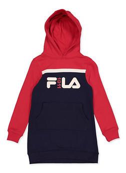 Girls 7-16 Fila Color Block Sweatshirt Dress - 3615075650001