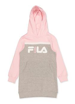Girls 7-16 FILA 1911 Color Block Sweatshirt Dress - 3615075650002