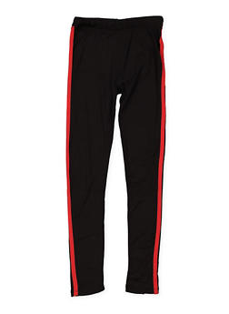 Girls 7-16 Varsity Stripe Leggings - 3619060580032