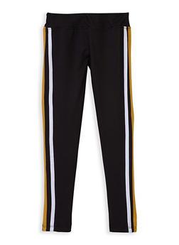 Girls 7-16 Varsity Stripe Leggings - 3619060580035