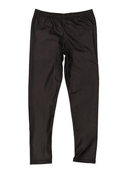 Girls 7-16 Textured Faux Leather Leggings - 3619061950051