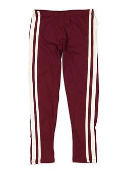 Girls 7-16 Side Stripe Soft Knit Leggings - 3619061950060