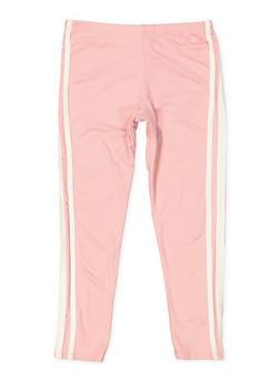 Girls 7-16 Side Stripe Soft Knit Leggings - 3619061950061