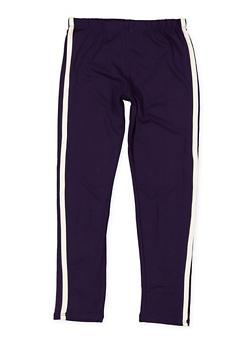 Girls 7-16 Side Stripe Soft Knit Leggings - 3619061950062