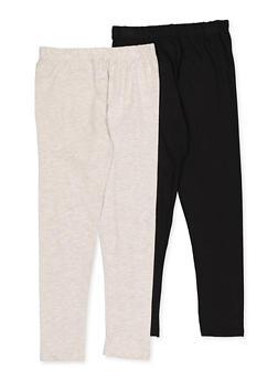 Girls 7-16 Pack of 2 Solid Leggings - 3619063370002